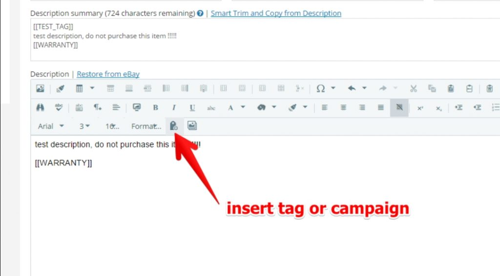 insert tag or campaign ad-lister
