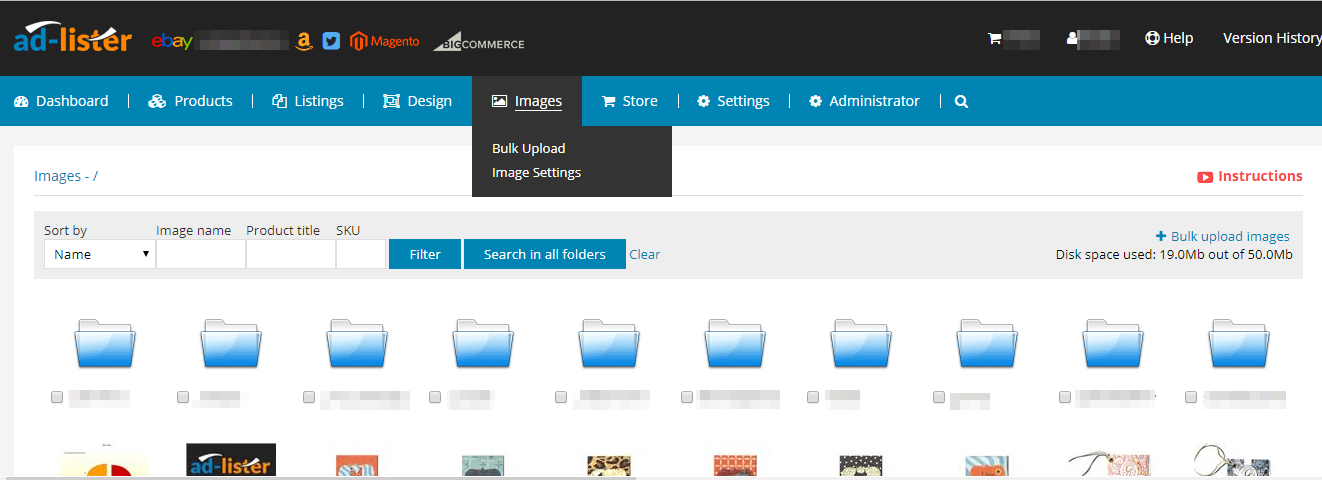 manage your product images from the Ad-Lister interface