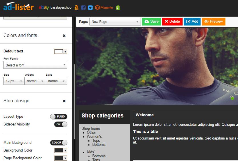 Listing template design