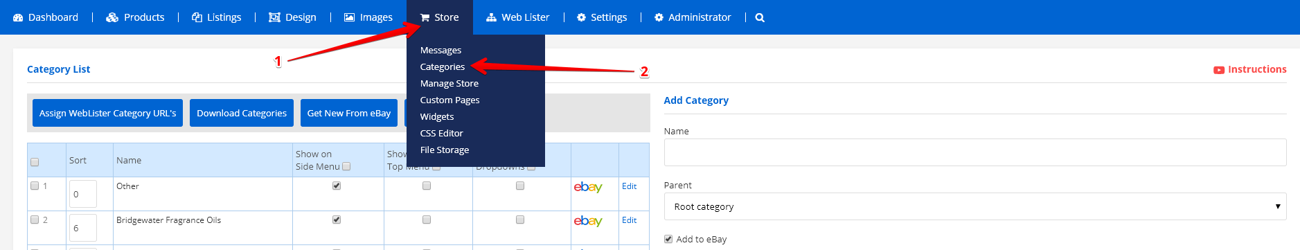 store-categories-ad-lister