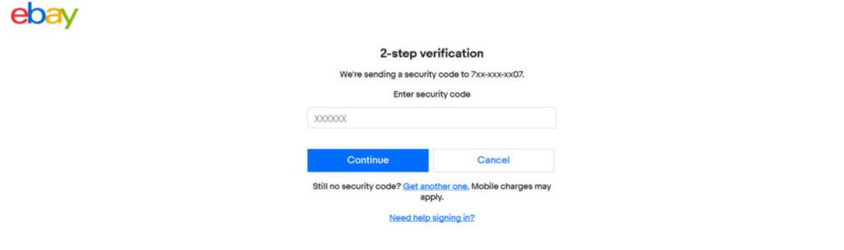 receiving 2FA code