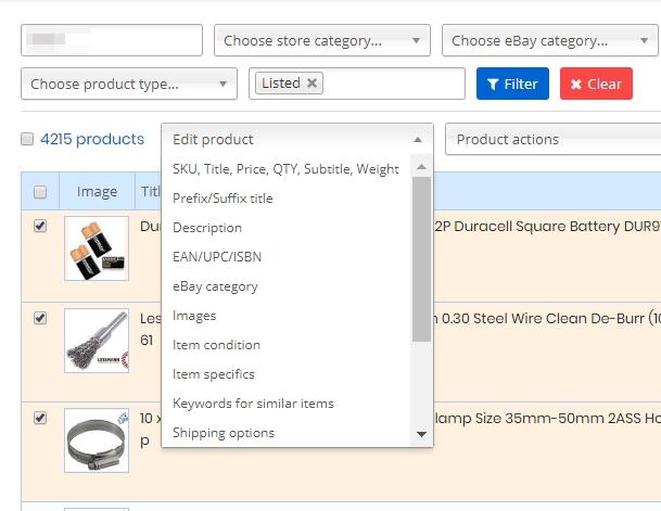 bulk edit eBay listings