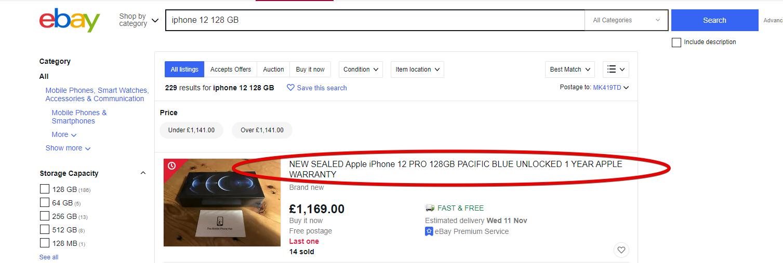 eBay listing title - tips for selling on eBay