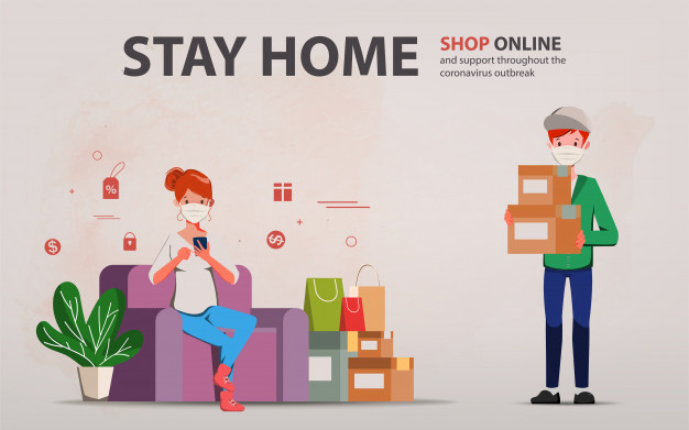 shop online stay at home