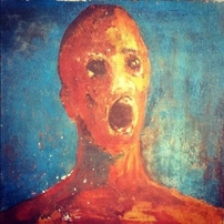 haunted painting of the Anguished man
