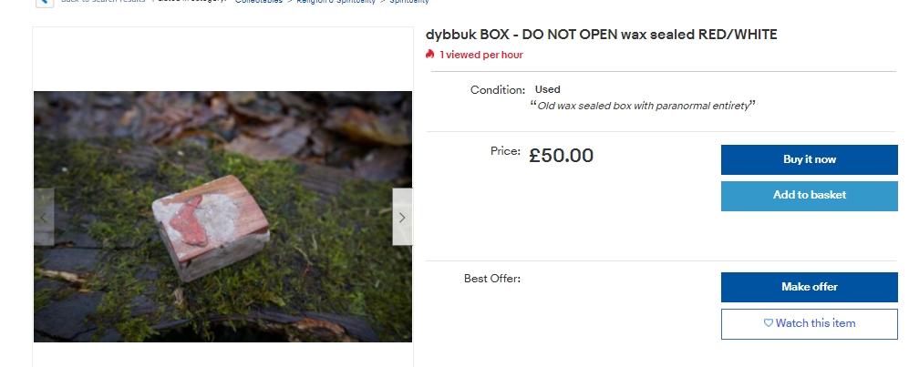 dybbuk box haunted